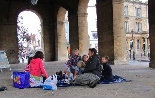 Picnic under the County Hall