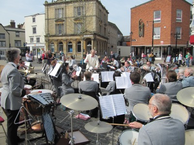Abbey Brass Band with audience