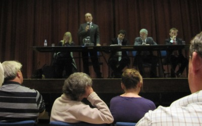 Chris Goodall Speaking at the hustings