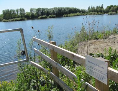 View across Thrupp Lake