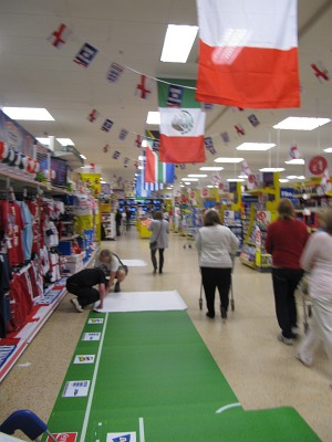 Tesco - laying floor pitch