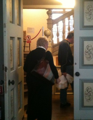 Museum Staff leave the building