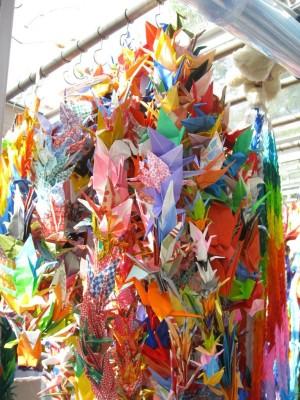 1200+ paper cranes