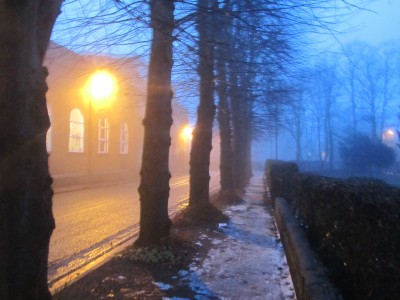 Mist as temperatures rise