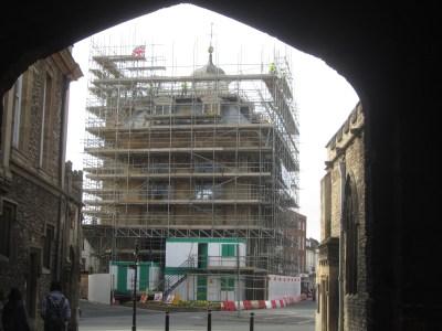 Scaffolding round County Hall