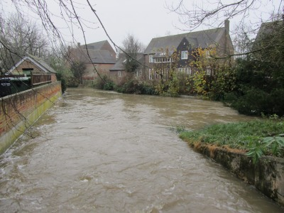 River Ock high water