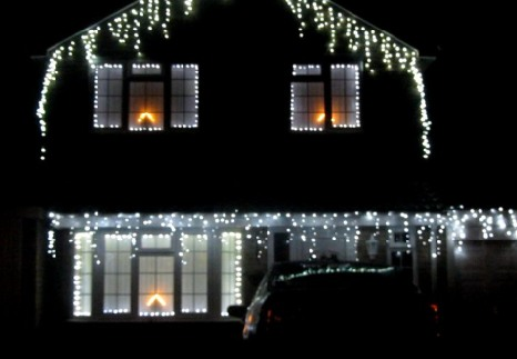 the lights that a lot of house owners put out at christmas brighten what could be a depressing time of year