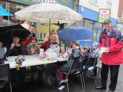 Umbrellas held Abingdon Style