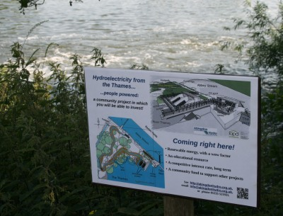 hydroelectricity from the Thames