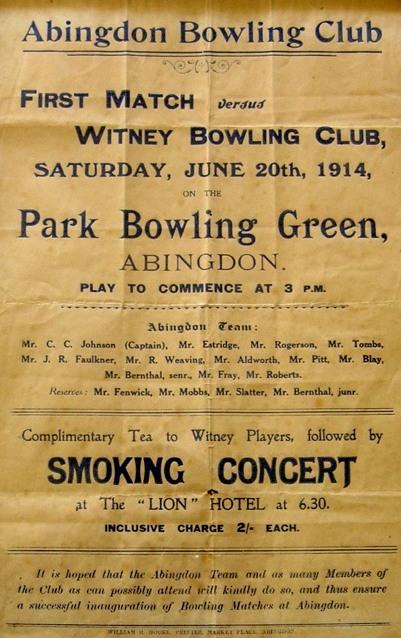 Bowling Centenary Match