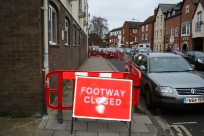 Danger in West St Helen Street