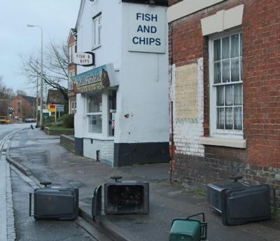Wind blown bins