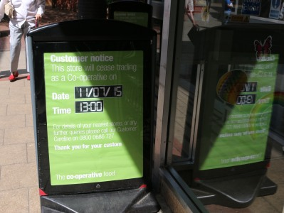 Bury Street Co-op to Cease Trading