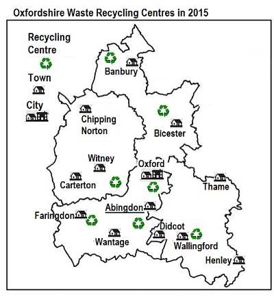 Waste Recycling Centres for Oxfordshire