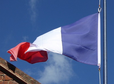 French Flag at Half Mast