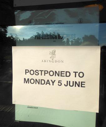 Pre-election Hustings Postponed