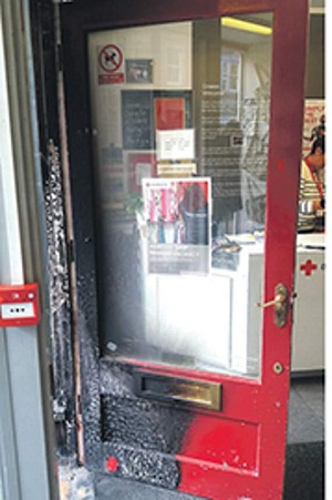 charity shop set alight
