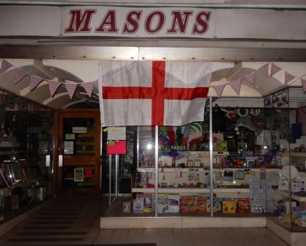 Mason's England Flag stays up