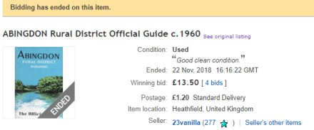 Abingdon Ebay prices