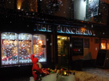 Snowfall outside The Punchbowl