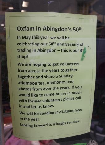 Oxfams in Abingdon's 50th