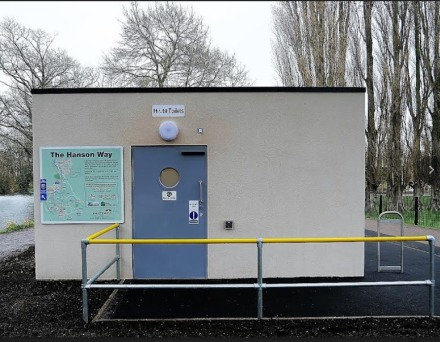 Toilet block at Abbey Meadow