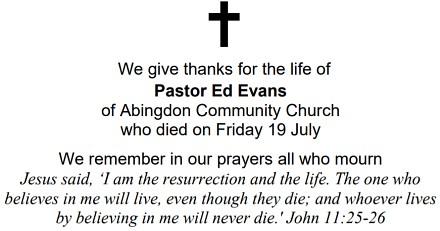 Pastor Ed Evans