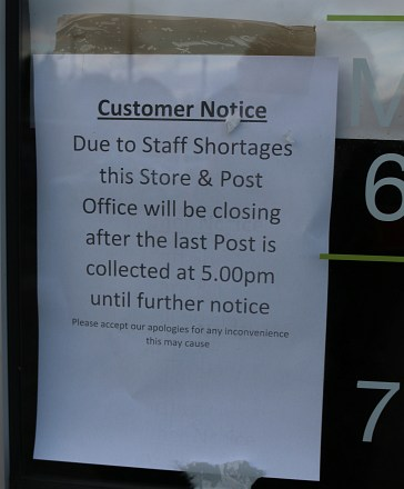 Post Office Closes