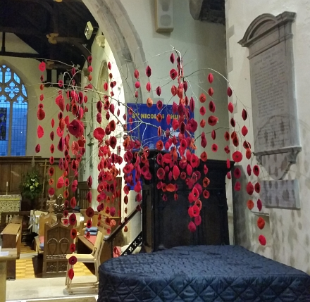 Poppy Display at St Nicolas Church, Abingdon
