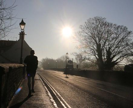 Low Bright Sun in Abingdon