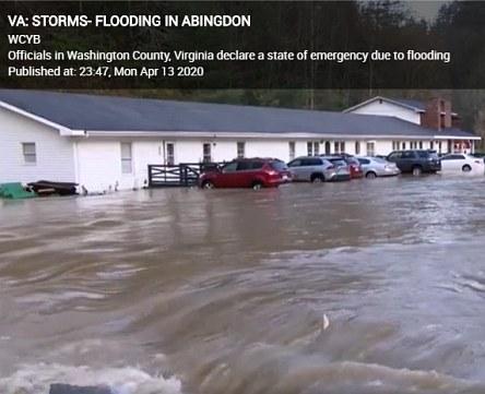 Abingdon VA - Storms, Floods and Coronavirus Pandemic