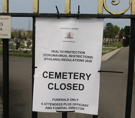 Cemeteries no longer closed