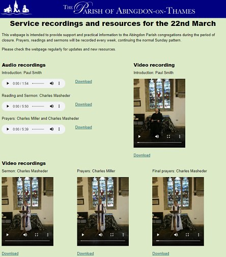 Virtual Church on Mothering Sunday
